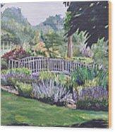 The Wedding Bridge Wood Print by Dottie Branchreeves