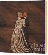 The Wedding Kiss Wood Print