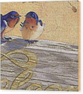 The Welcome Committee Wood Print by Tracy L Teeter