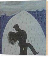 The Wet Kiss Wood Print