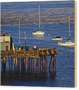 The Wharf Wood Print by Tom Kelly