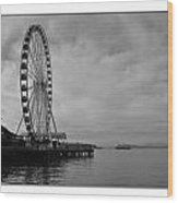 The Wheel And The Ferry Wood Print