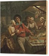 The Wheel Of Fortune, 1861 Wood Print