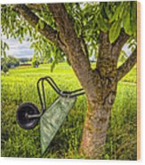 The Wheelbarrow Wood Print