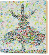 The Whirling Sufi Wood Print