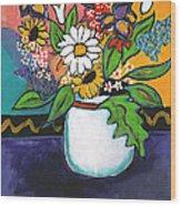 The White Daisy Wood Print