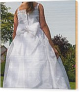 The White Dress Wood Print