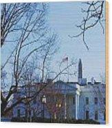 The White House 1 Wood Print