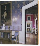 The White House Blue Room Wood Print