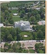 The White House Wood Print by Carol Highsmith