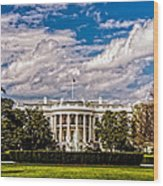 The White House Wood Print