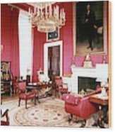 The White House Red Room Wood Print