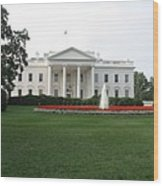 The White House - Washington D C Wood Print