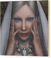 The White Lady Wood Print