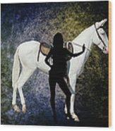 The White Mule Wood Print