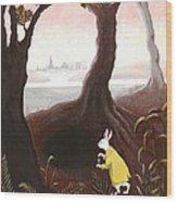 The White Rabbit Wood Print