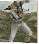 The White Ranger Wood Print