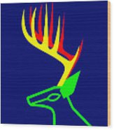 The White Tailed Christmas Deer Wishes You A Merry Christmas Wood Print