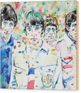 The Who - Watercolor Portrait Wood Print