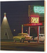 The Wigwam Motel On Route 66 Panoramic Wood Print