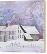 The Wilder Homestead Wood Print