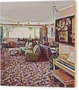 The Windham Arms Lounge In Windham M Y Wood Print