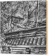 The Winding Stairs Wood Print