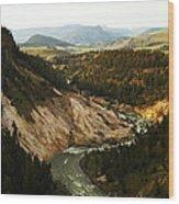 The Winding Yellowstone Wood Print