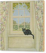 The Window Cat Wood Print