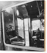The Window Of Old Train Wood Print