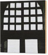The Window Wood Print