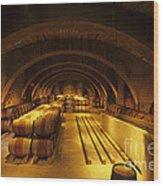 The Wine Room Wood Print