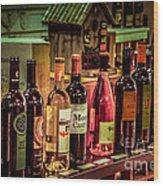 The Wine Shop Wood Print