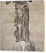 The Winged Victory Of Samothrace Marble Sculpture Of The Greek Goddess Nike Victory Wood Print
