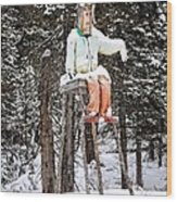 The Winter Greeter Wood Print