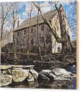The Wissahickon Creek And Mather Mill Wood Print