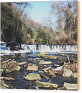 The Wissahickon Creek In February Wood Print