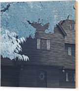 The Witch House In Infrared Wood Print