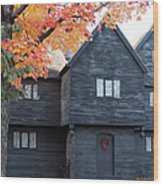The Witch House Of Salem Wood Print