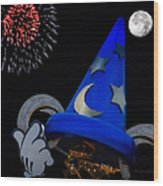 The Wizard Walt Disney World Wood Print