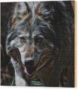The Wolf Digital Art Wood Print