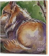 The Wolf Star Wood Print