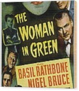 The Woman In Green, Us Poster Art, Left Wood Print