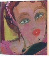 The Woman Who Whistled At The Opera Wood Print by Judith Desrosiers