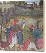 The Women Of Sorrento Wood Print by John Roddam Spencer Stanhope