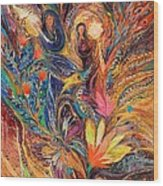 The Women Of Tanakh - Miriam With Timbrels Wood Print by Elena Kotliarker