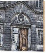 The Wooden Door Wood Print