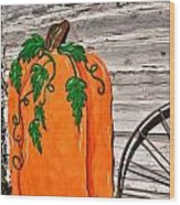 The Wooden Pumpkin Wood Print