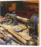 The Woodworker Wood Print by Paul Ward