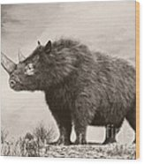 The Woolly Rhinoceros Is An Extinct Wood Print by Philip Brownlow